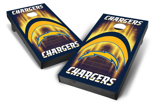 Los Angeles Chargers 2x4 Cornhole Board Set Onyx Stained - Arch