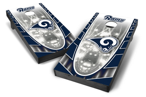 Los Angeles Rams 2x4 Cornhole Board Set Onyx Stained - Hot