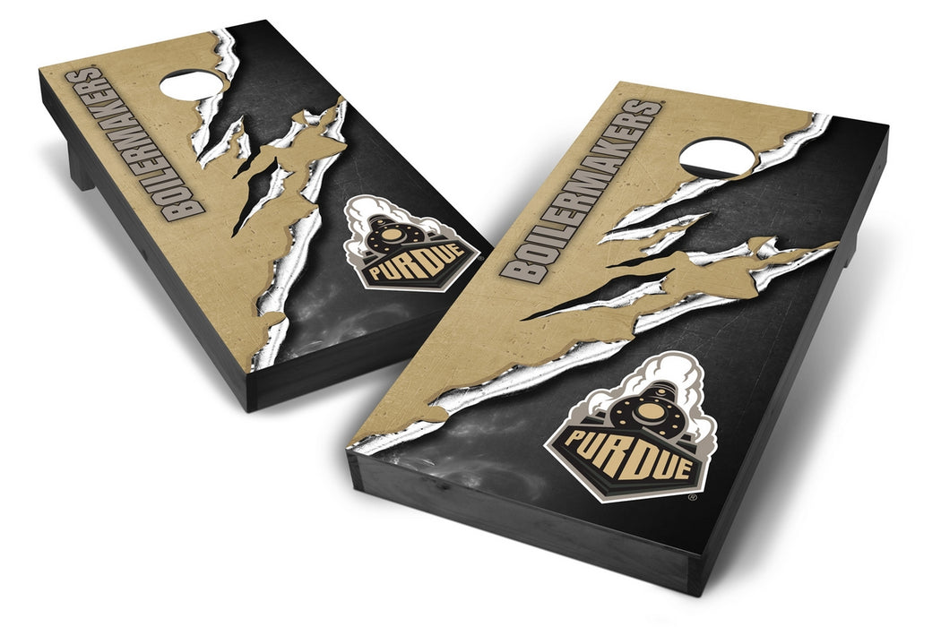 Purdue Boilermakers 2x4 Cornhole Board Set Onyx Stained -  Ripped