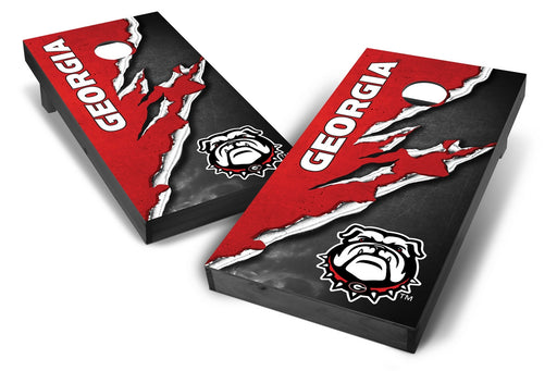 Georgia Bulldogs 2x4 Cornhole Board Set Onyx Stained -  Ripped