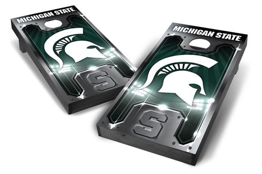 Michigan State Spartans 2x4 Cornhole Board Set Onyx Stained - Plate