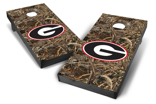 Georgia Bulldogs 2x4 Cornhole Board Set Onyx Stained - Realtree Max-5 Camo