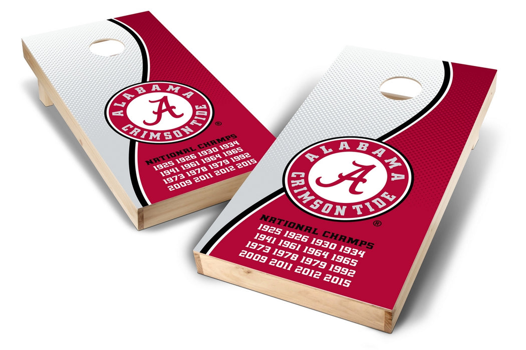 Alabama Crimson Tide 2x4 Cornhole Board Set - Champions