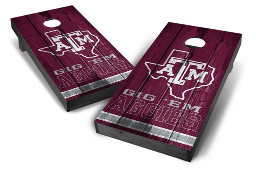 Texas A&M Aggies 2x4 Cornhole Board Set Onyx Stained - Vintage