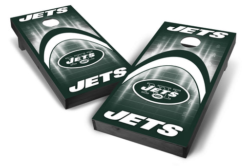 New York Jets 2x4 Cornhole Board Set Onyx Stained - Arch