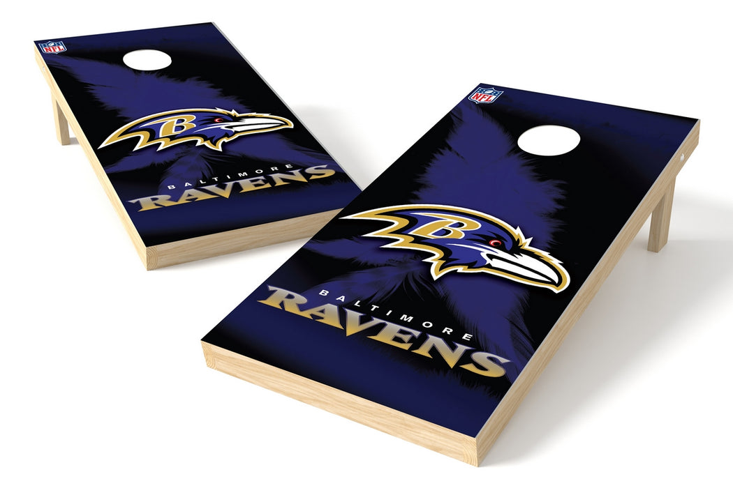 Baltimore Ravens 2x4 Cornhole Board Set - Logo