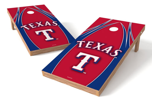 Texas Rangers 2x4 Cornhole Board Set - Edge