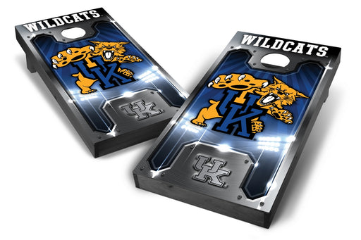 Kentucky Wildcats 2x4 Cornhole Board Set Onyx Stained - Plate