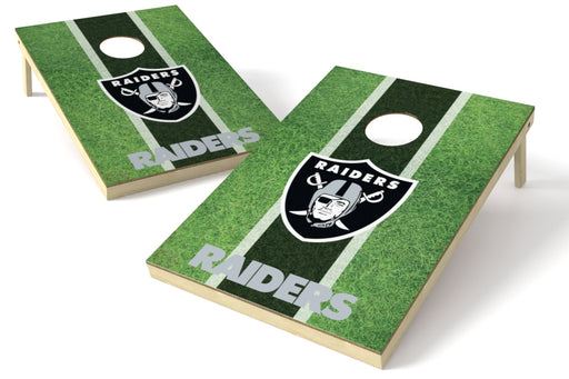 Oakland Raiders 2x3 Cornhole Board Set - Field