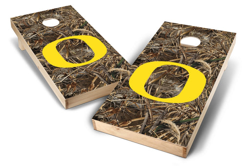 Oregon Ducks 2x4 Cornhole Board Set - Realtree Max-5 Camo