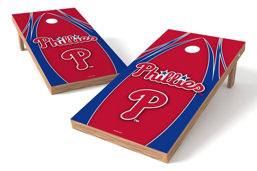 Philadelphia Phillies 2x4 Cornhole Board Set - Edge