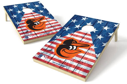 Baltimore Orioles 2x3 Cornhole Board Set - American Flag
