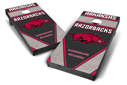 Arkansas Razorbacks 2x4 Cornhole Board Set Onyx Stained - Burlap