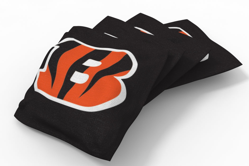 Cincinnati Bengals 2x4 Cornhole Board Set Onyx Stained - Logo