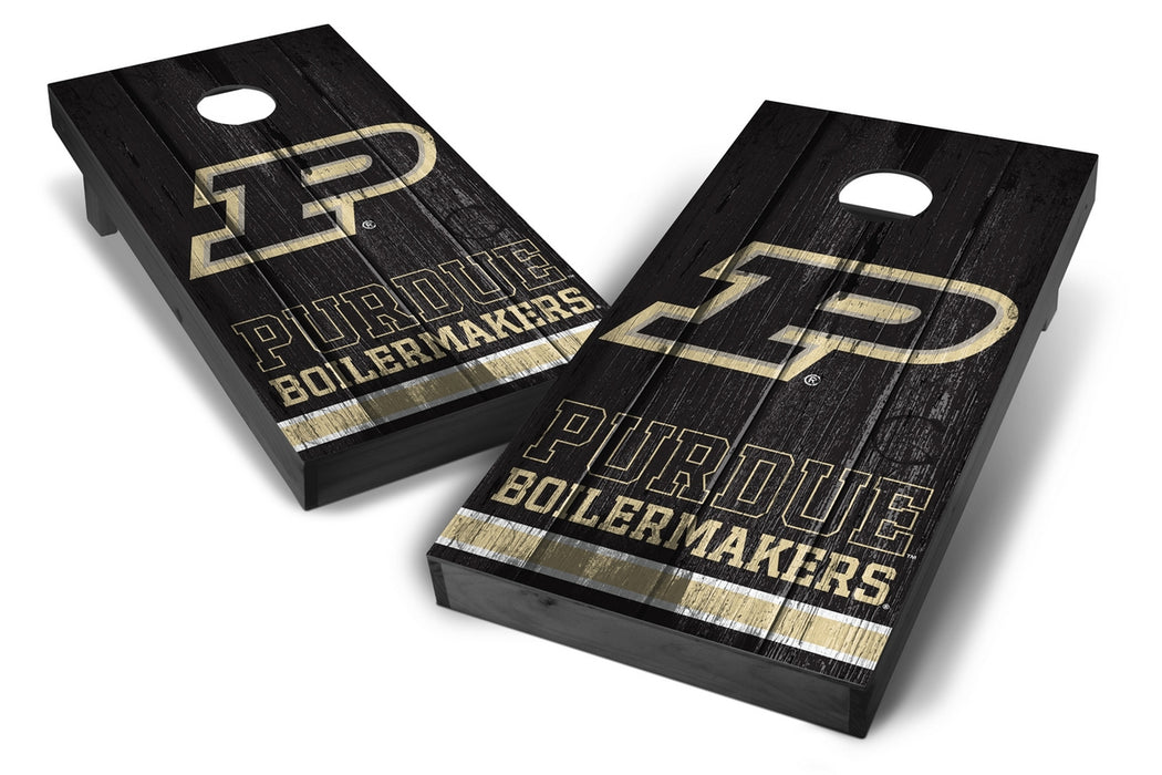 Purdue Boilermakers 2x4 Cornhole Board Set Onyx Stained - Vintage