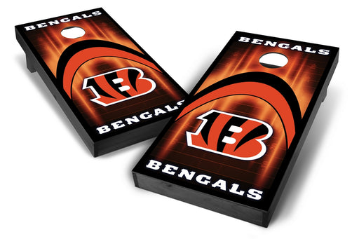 Cincinnati Bengals 2x4 Cornhole Board Set Onyx Stained - Arch