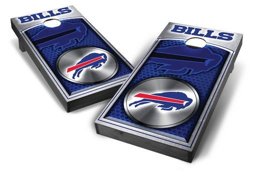 Buffalo Bills 2x4 Cornhole Board Set Onyx Stained - Medallion