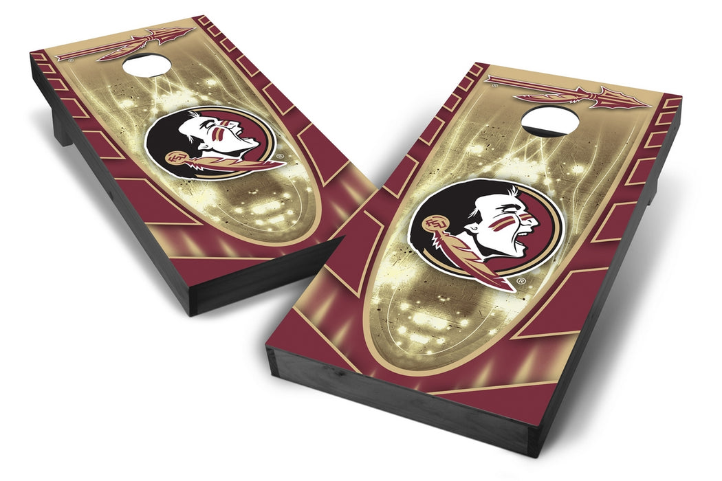 Florida State Seminoles 2x4 Cornhole Board Set Onyx Stained - Hot