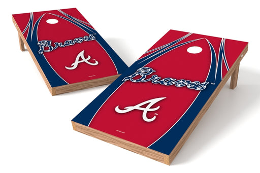 Atlanta Braves 2x4 Cornhole Board Set - Edge