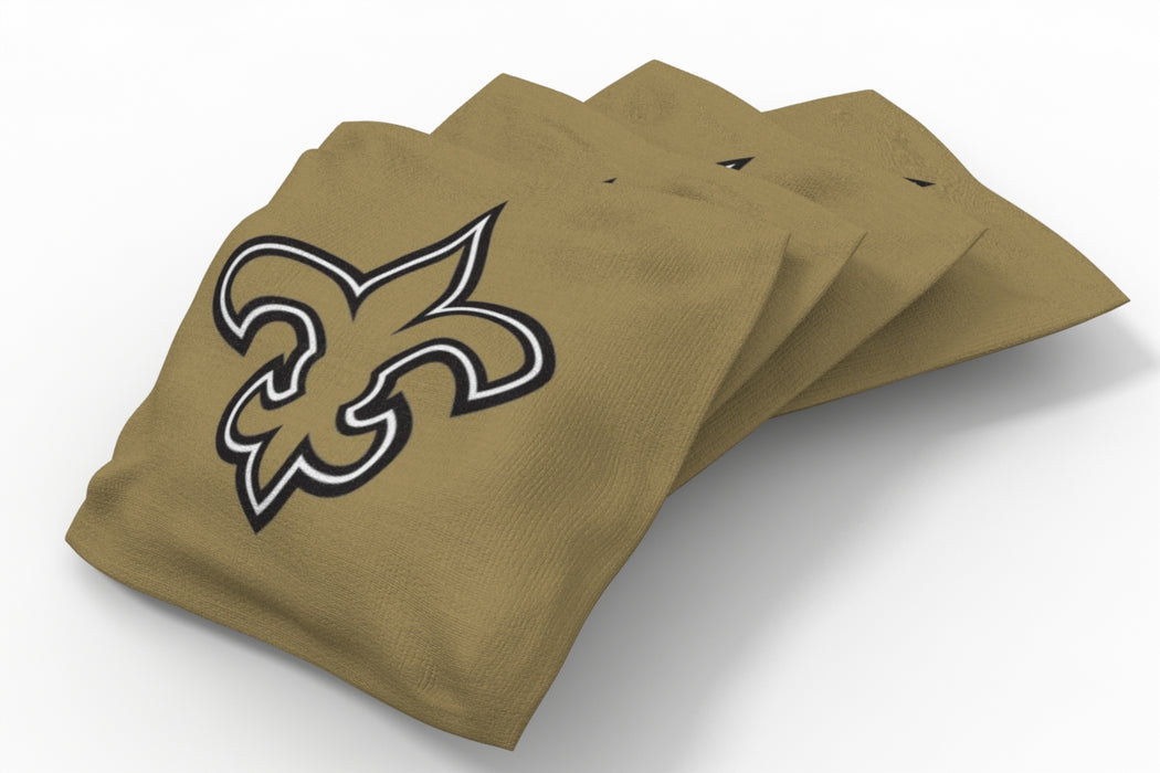 New Orleans Saints 2x4 Cornhole Board Set - Plate