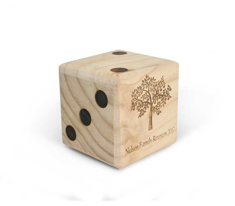 Customized Giant Wooden Yard Dice