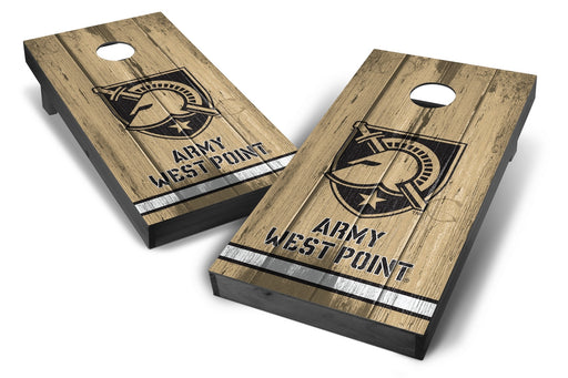 Army Black Knights 2x4 Cornhole Board Set Onyx Stained - Vintage