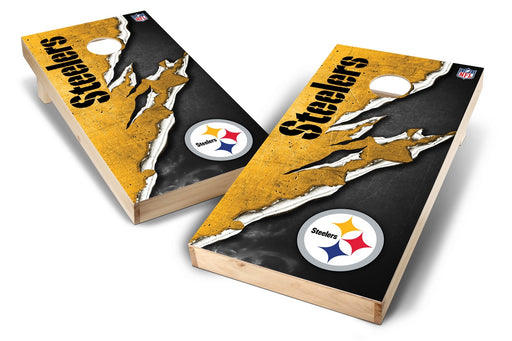 Pittsburgh Steelers 2x4 Cornhole Board Set - Ripped