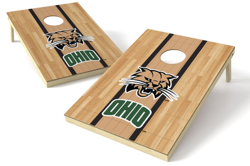 Ohio Bobcats 2x3 Cornhole Board Set - Hardwood