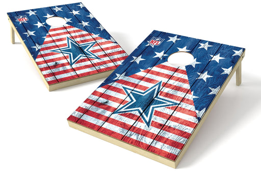 Dallas Cowboys 2x3 Cornhole Board Set - American Flag