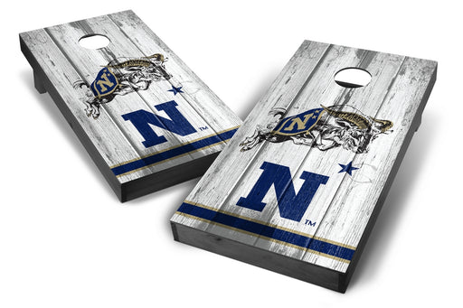 US Navy Midshipmen 2x4 Cornhole Board Set Onyx Stained - Vintage