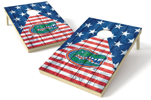 Florida Gators 2x3 Cornhole Board Set - American Flag