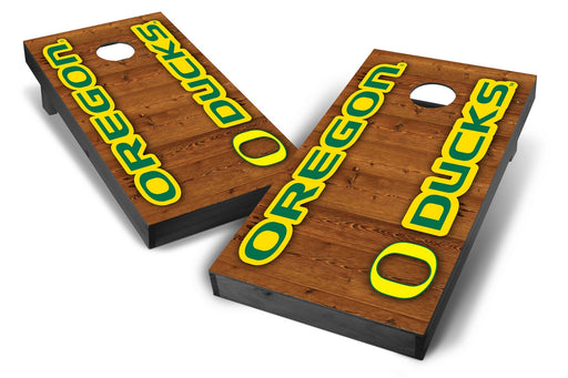 Oregon Ducks 2x4 Cornhole Board Set Onyx Stained - Vertical