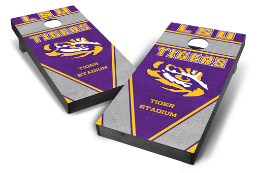 LSU Tigers 2x4 Cornhole Board Set Onyx Stained - Burlap