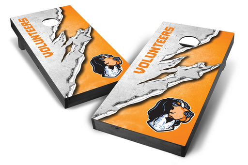 Tennessee Volunteers 2x4 Cornhole Board Set Onyx Stained -  Ripped