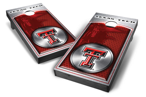 Texas Tech Red Raiders 2x4 Cornhole Board Set Onyx Stained - Medallion