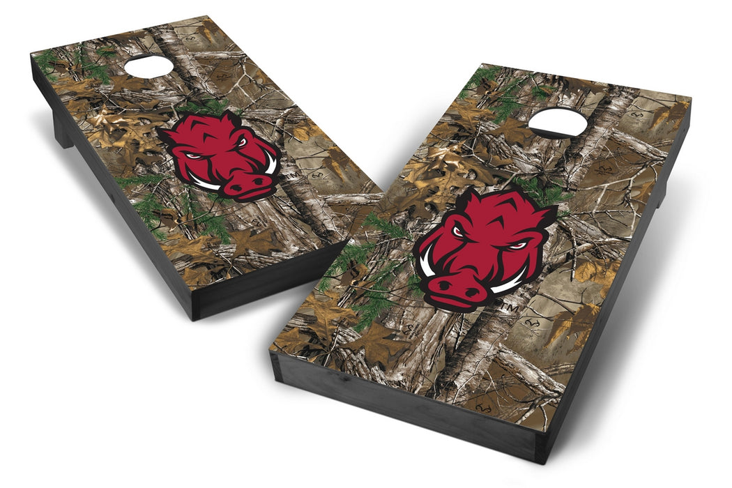 Arkansas Razorbacks 2x4 Cornhole Board Set Onyx Stained - Xtra Camo
