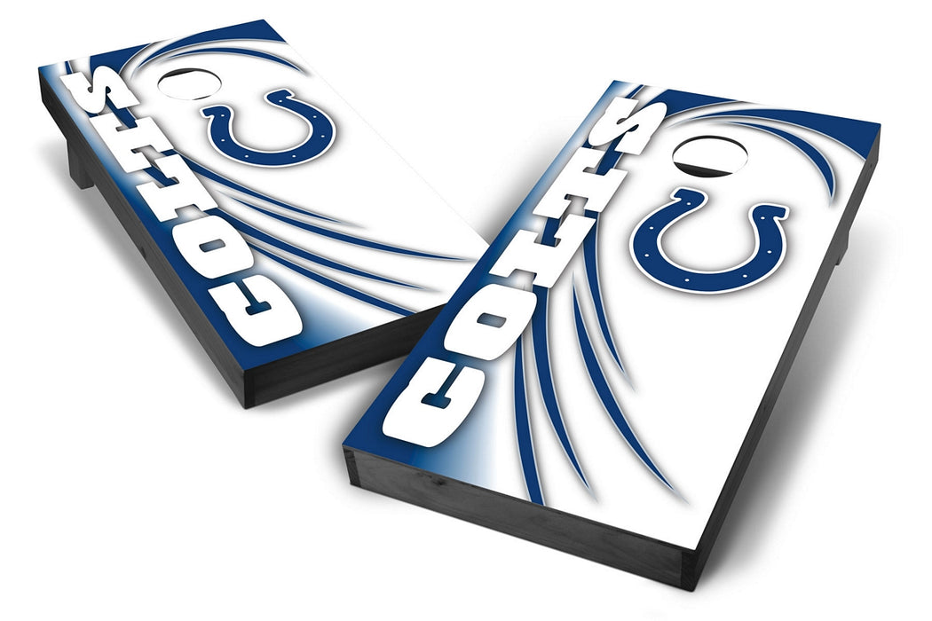 Indianapolis Colts 2x4 Cornhole Board Set Onyx Stained - Spiral