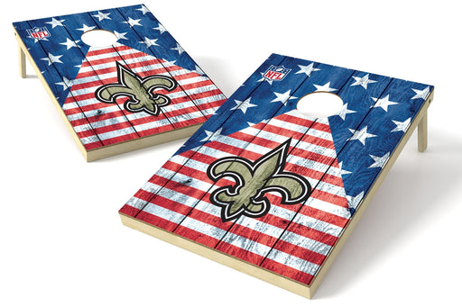 New Orleans Saints 2x3 Cornhole Board Set - American Flag