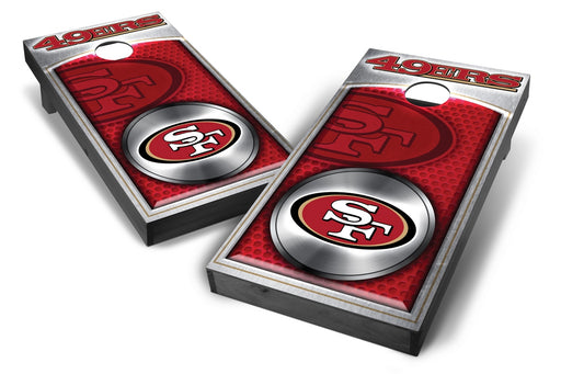San Francisco 49ers 2x4 Cornhole Board Set Onyx Stained - Medallion