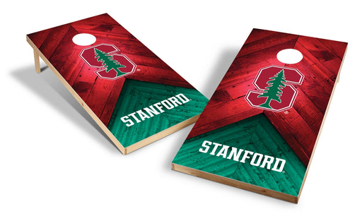 Stanford Cardinal 2x4 Cornhole Board Set - Weathered