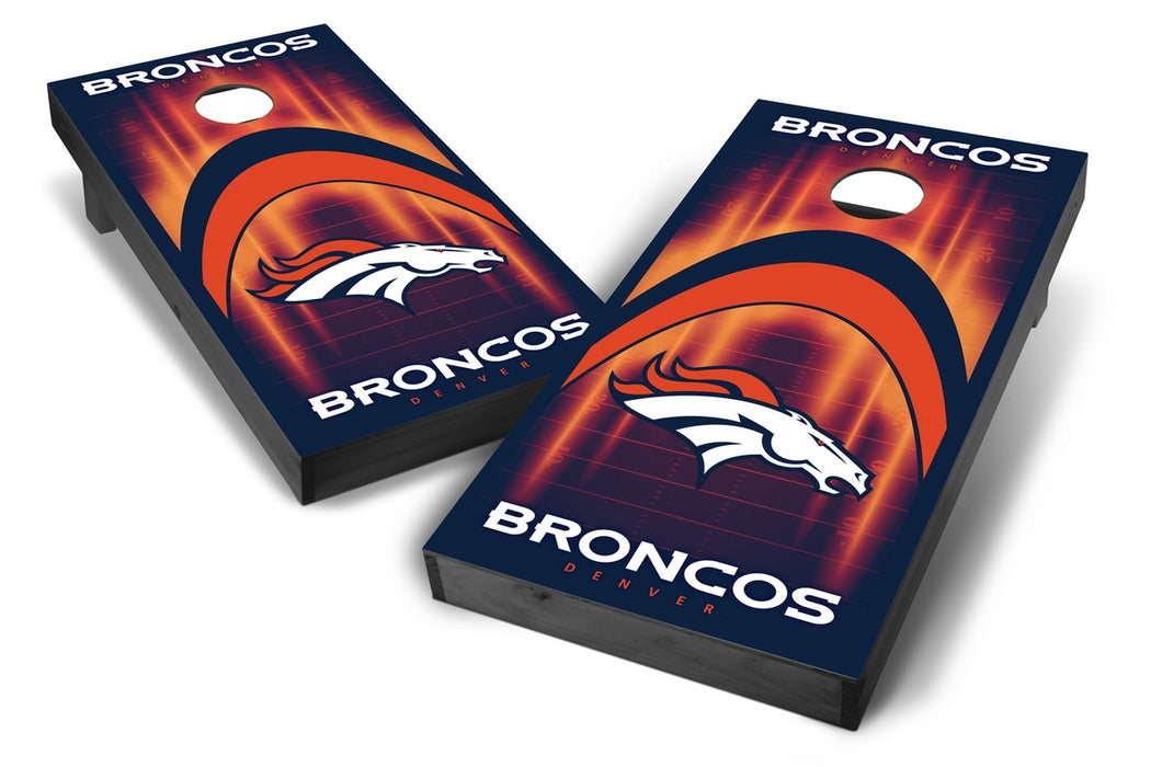 Denver Broncos 2x4 Cornhole Board Set Onyx Stained - Arch