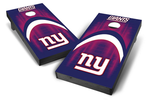 New York Giants 2x4 Cornhole Board Set Onyx Stained - Arch