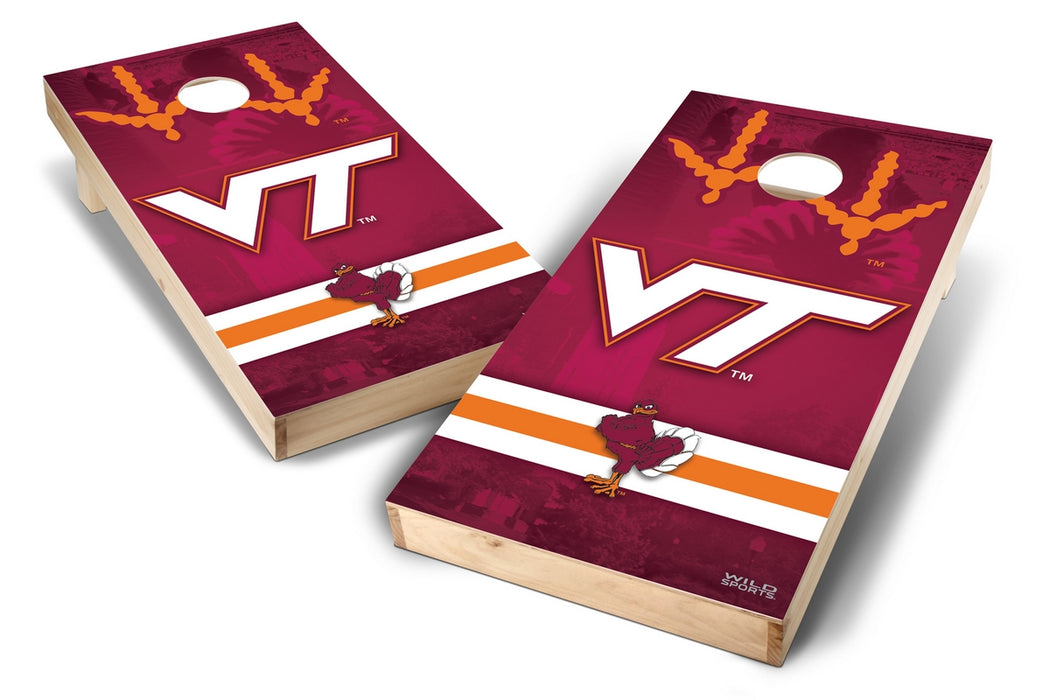 Virginia Tech Hokies 2x4 Cornhole Board Set - Wild