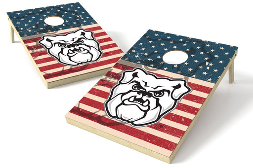 Butler Bulldogs 2x3 Cornhole Board Set - American Flag Weathered