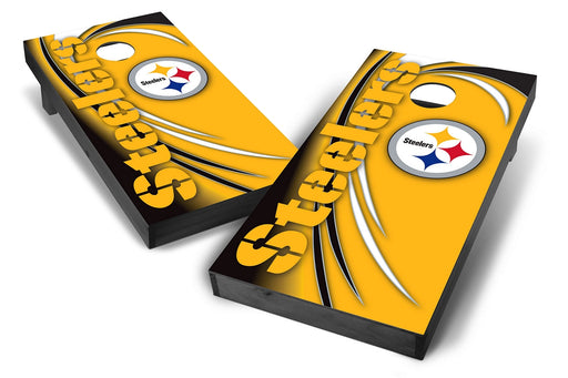 Pittsburgh Steelers 2x4 Cornhole Board Set Onyx Stained - Spiral