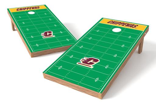 Central Michigan 2x4 Cornhole Board Set - Field