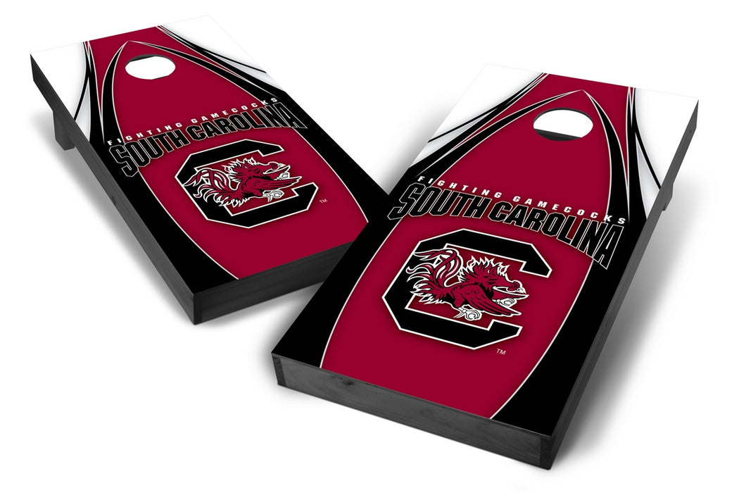 South Carolina Gamecocks 2x4 Cornhole Board Set Onyx Stained - Edge