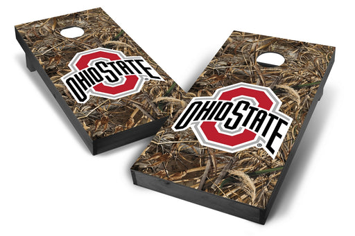 Ohio State Buckeyes 2x4 Cornhole Board Set Onyx Stained - Realtree Max-5 Camo