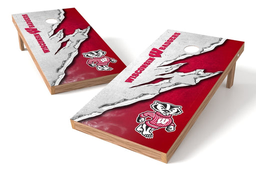 Wisconsin Badgers 2x4 Cornhole Board Set - Ripped