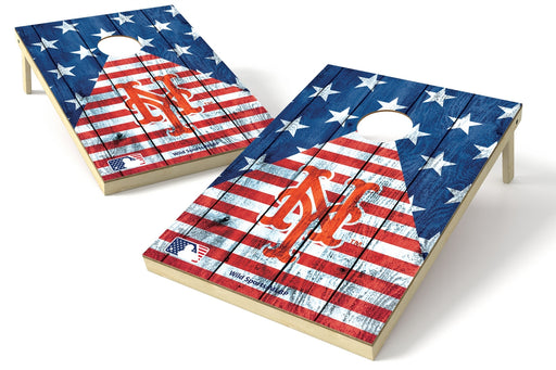 New York Mets 2x3 Cornhole Board Set - American Flag